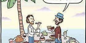 Cartoon - Desserted Island