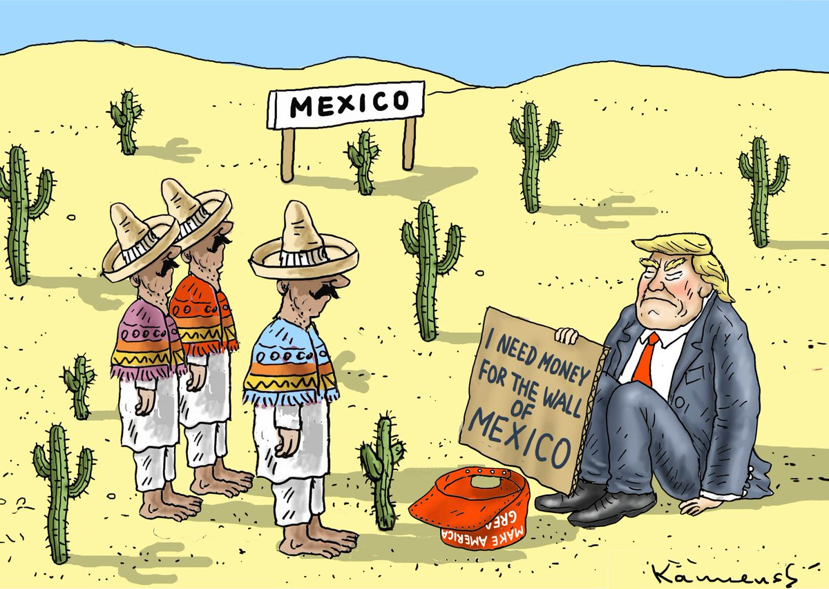 Trump Begging For Money - The Wall