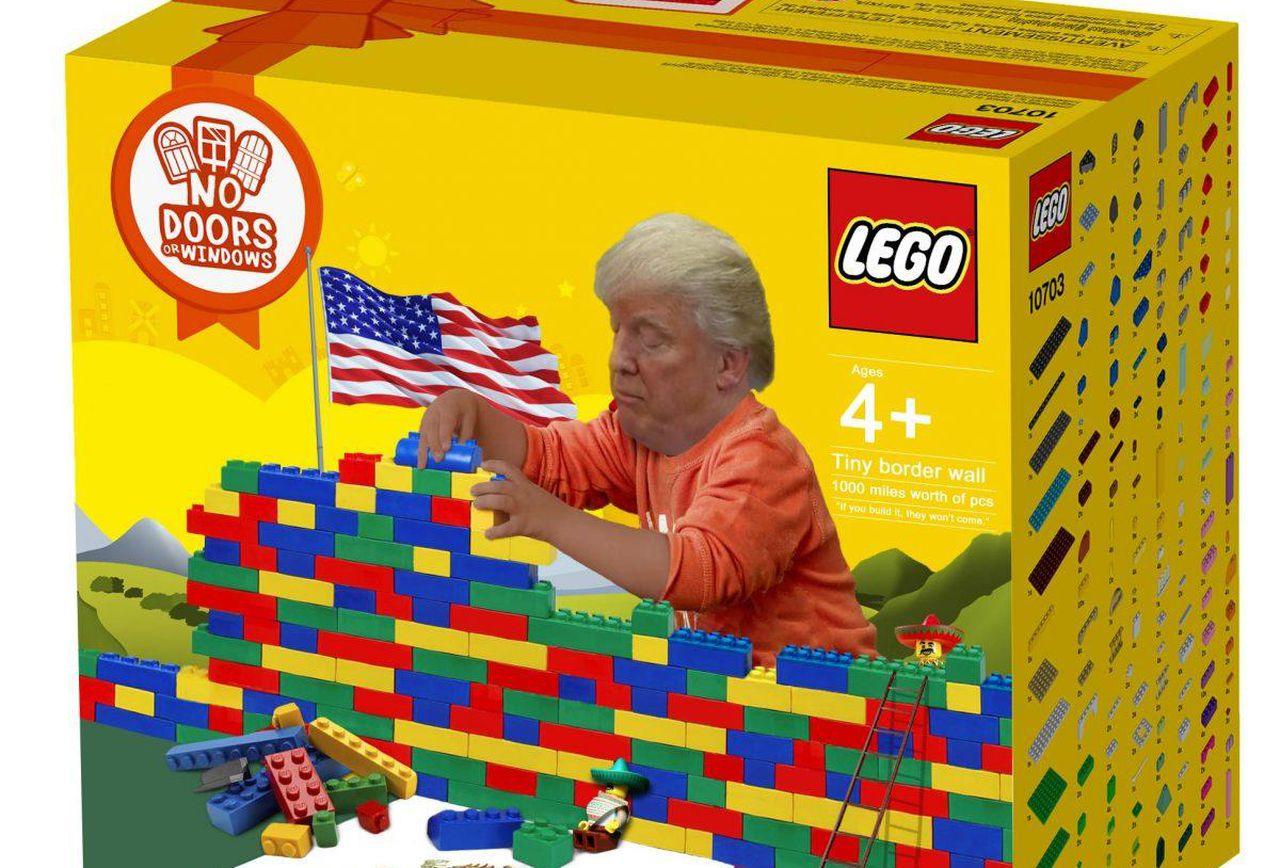 Trump Wall Lego Set