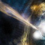 2 Neutron Stars Collide in a Far-Off Galaxy