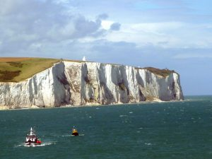 How were the white cliffs of Dover England formed
