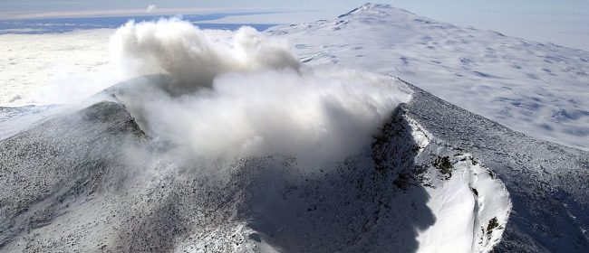Active Volcano Discovered Under Glacier in Antarctica