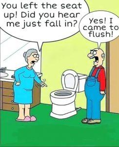 Cartoon - Falling In Toilet Flush