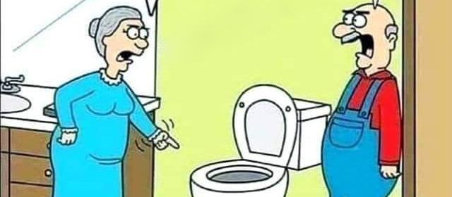 Cartoon - Falling In Toilet Flush