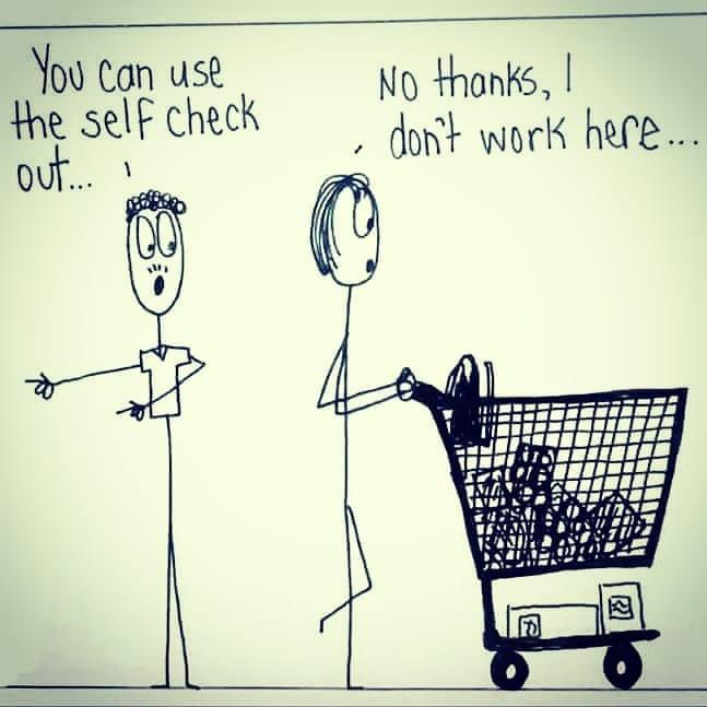 Cartoon - I Dont Work Here