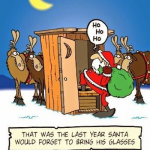 Cartoon – Santa Glasses