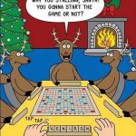 Cartoon – Scrabble With Santa