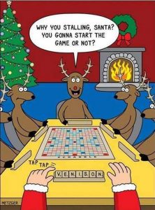 Cartoon - Scrabble With Santa
