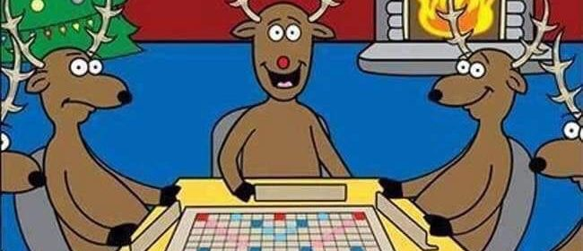 Cartoon - Scrabble With Santa