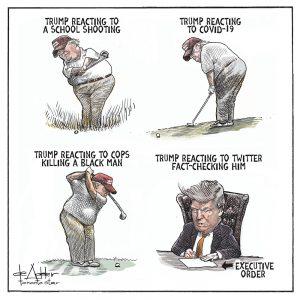 Trump Reacting