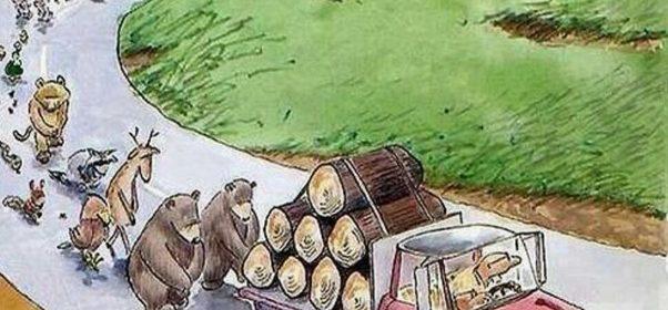 Cartoon - Eviction Day